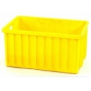 SKRZYNIA TRANSPORTOWA 800x600x450 mm żółta