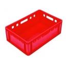 POJEMNIKI E2 600x400x200 mm czerwone z atestem