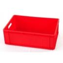 POJEMNIKI EURO 600x400x200 mm czerwone pełne-lite
