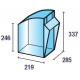 Pojemniki warsztatowe Practibox 600x311x353 mm
