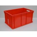 POJEMNIK PLASTIKOWY 60x40x30 cm czerwone