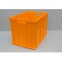 SKRZYNKA PLASTIKOWA  60x40x41 cm  żółta ciemna